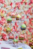 Colorful cupcakes on a small ferris wheel Stock Photography
