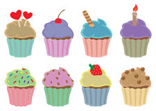 Colorful Cupcakes Vector Design Elements Royalty Free Stock Photo