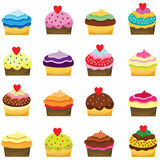 Colorful Cupcakes. A Vector Illustration of Colorful Cupcakes Royalty Free Stock Photo