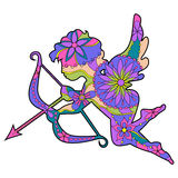 Colorful Cupid 2 Royalty Free Stock Images