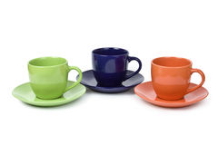 Colorful cups Royalty Free Stock Image