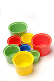 Colorful cups Stock Images