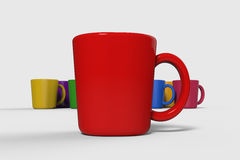 Colorful of cups Royalty Free Stock Photo