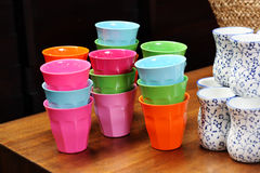 Colorful cups Royalty Free Stock Photos