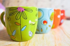 Colorful cups Royalty Free Stock Photography