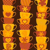 Colorful Cups Background Stock Image