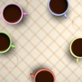 Colorful cups of coffee Royalty Free Stock Image