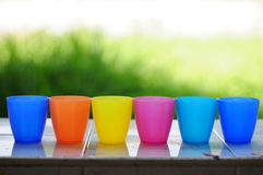 The colorful cups Royalty Free Stock Image