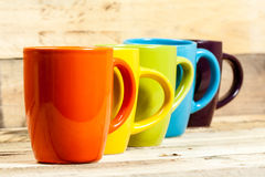 Colorful cups. Royalty Free Stock Photography