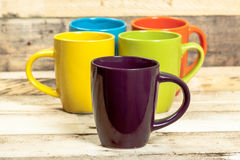 Colorful cups. Royalty Free Stock Images