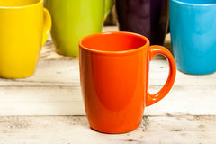 Colorful cups. Stock Photography