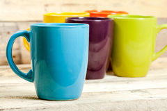 Colorful cups. Royalty Free Stock Photos