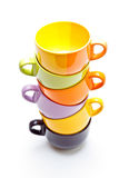 Colorful cups pyramid Stock Image