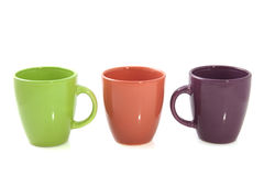 Colorful cups Royalty Free Stock Images