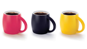 Colorful cups  on white. Stock Images