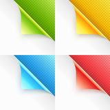 Colorful Curled Page Corners Stock Image