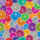 Colorful curls seamless background. Royalty Free Stock Image