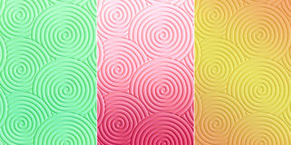 Colorful Curly circle pattern texture which can be used as backg Royalty Free Stock Photography