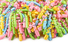 Colorful Curly Party Ribbon Background Royalty Free Stock Image