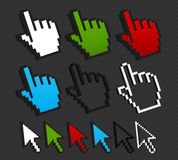 Colorful cursor set internet concept Stock Photos