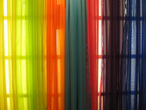 Colorful curtain. Colorful spectrum of curtain for abstract background Royalty Free Stock Photography