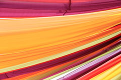 Colorful curtain drapes Stock Photo