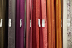 Colorful  curtains for sale Stock Photography
