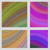 Colorful curved digital art page background set. Colorful abstract curved digital art page background set Royalty Free Stock Photo
