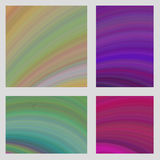 Colorful curved digital art page background set. Colorful abstract curved digital art page background set Stock Photography