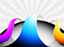 Colorful curved glossy Royalty Free Stock Images