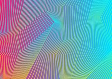 Colorful curved lines pattern design Stock Image
