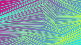 Colorful curved lines refraction pattern video animation