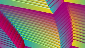 Colorful curved stripes refraction abstract video animation