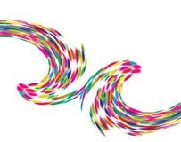 Colorful Curved symbol design on white background. Color symbol dsign vector illustration