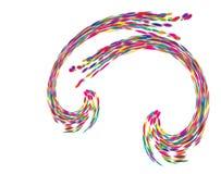 Colorful Curved symbol design on white background. Color symbol dsign stock illustration