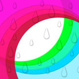 Colorful Curves Background Shows Sloping Lines And Water Drops Royalty Free Stock Images