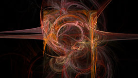 Colorful curves and waves abstract 3d background Royalty Free Stock Image