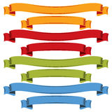 Colorful curvy ribbons isolated on white background. Colorful curvy ribbons isolated on white background, festive bands royalty free illustration