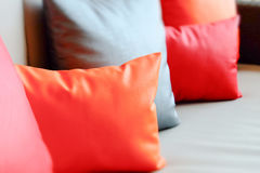 Colorful cushions in sofa. Royalty Free Stock Image