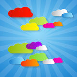 Colorful Cut Paper Clouds Royalty Free Stock Photo