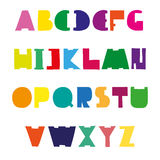 Colorful cute alphabet design. Hand drawn font. Royalty Free Stock Photos