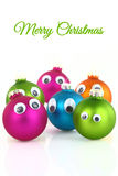 Colorful cute Christmas Stock Images