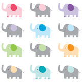 Colorful Cute Elephant Royalty Free Stock Photo