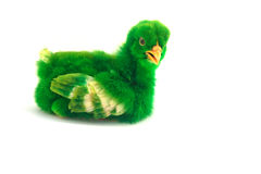 Colorful cute little baby chicken on white background Royalty Free Stock Photos