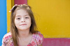 Colorful Cute little girl portrait Royalty Free Stock Photography