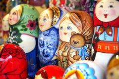 Colorful and cute matrioshka Stock Photography