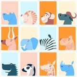 Cute animals. Colorful cute monthly calendar. Can be used for web,banner,poster,label and printable. Vector royalty free illustration