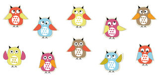 Colorful cute owl vector background Royalty Free Stock Photography