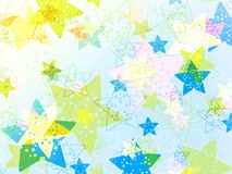 Colorful cute stars Stock Photography