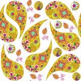 Colorful cute yellow Turkish cucumber seamless pattern and seaml Stock Image
